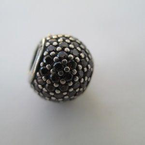Pandora Pave Lights Brown Ball charm bead
